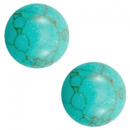 Cabochons Basic Stone Look 12mm Light turquoise-brown