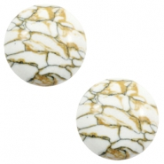 Cabochons Basic Stone Look 12mm White-brown black