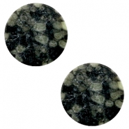Cabochons Basic flach Stone Look 20mm Black-green