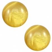 20 mm classic Polaris Elements Cabochon pearl shine Spicy mustard green