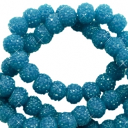 Sparkle beads 6mm Teal blue
