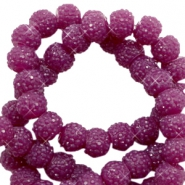 Sparkle beads 6mm Butterfly purple