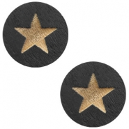 Cabochon Holz Star 12mm Black