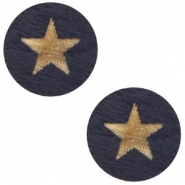 Cabochon Holz Star 12mm Dark blue