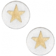 Cabochon Holz Star 12mm Silver