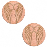 Cabochon Holz Angel Wings 12mm Rosegold