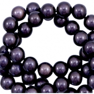 3D Miracle Perlen 4mm Dark lilac purple