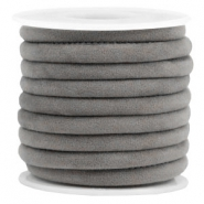 Trendy Velvet Kordel gesteppt 6x4mm Grey