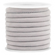Trendy Velvet Kordel gesteppt 6x4mm Light grey