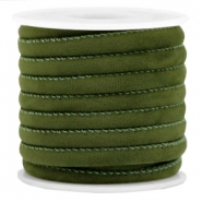 Trendy Velvet Kordel gesteppt 6x4mm Army green