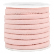 Trendy Velvet Kordel gesteppt 6x4mm Light rose