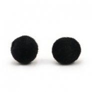 Velvet Perlen Pompom 8mm Black