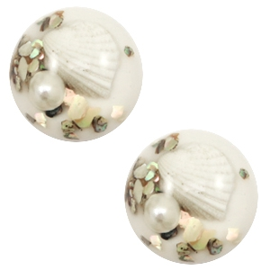 Cabochons Basic Muschel 20mm White
