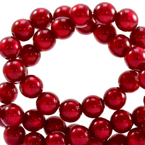Super Polaris Perle 6mm rund Rubino red