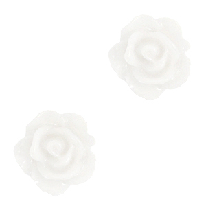 Perlen Rosen 10mm Bright white